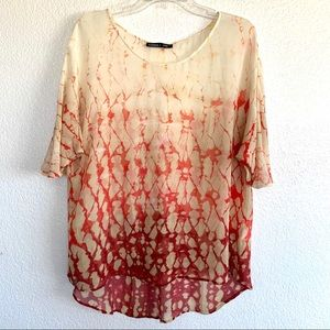 Gypsy 05 Anthropologie Silk Watercolor Sheer Top